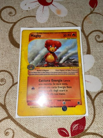 Carta pokemon Magby expedition