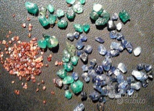 Zaffiro, smeraldo e granato
