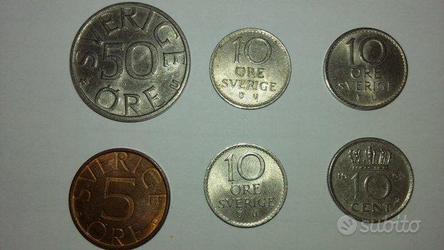 Lotto 6 monete Svezia