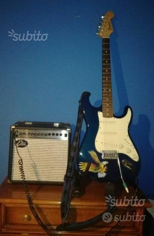 Nuovissima chitarra elettrica con amplificatore