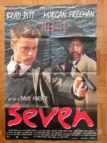 Poster locandina Seven 140 x 90 cm - Brad Pitt