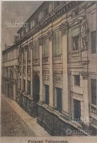 Vicenza - Stampa Antica con Cornice in Legno