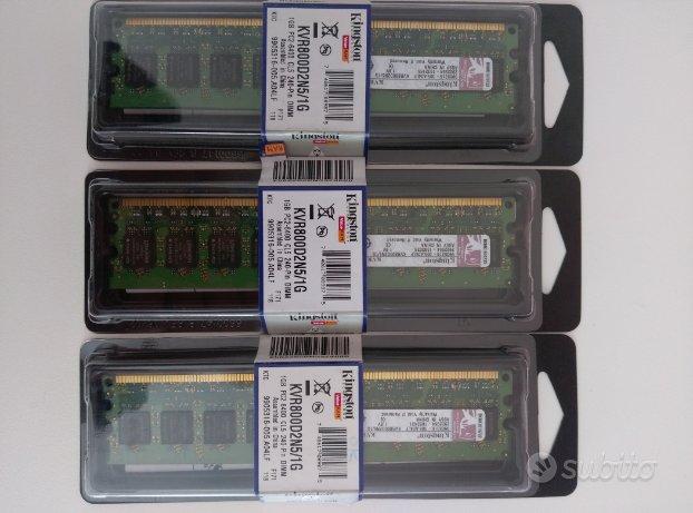 Ram Kit 3gb KVR800D2N5/1G 240Pin PC2-6400 DDR2-800
