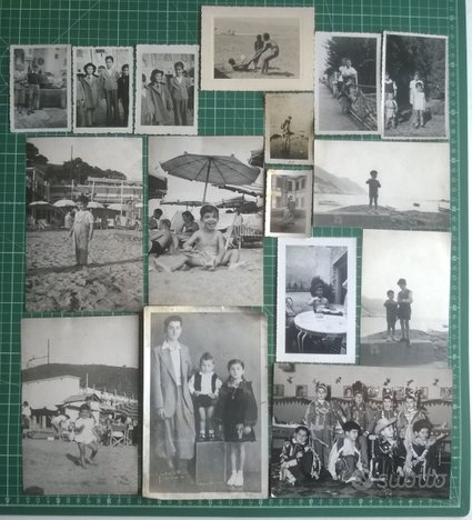Lotto 43 foto d'epoca BAMBINI RAGAZZI '40s-50s b/n