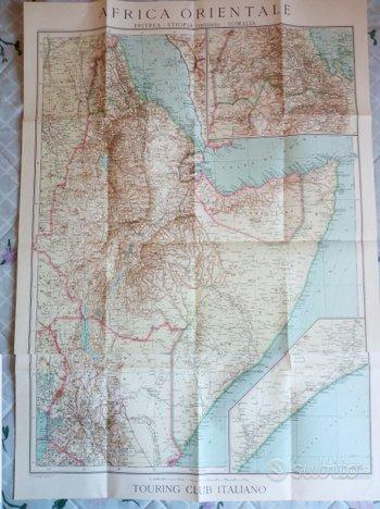 Carta Africa Orientale e Colonie -1935 TCI
