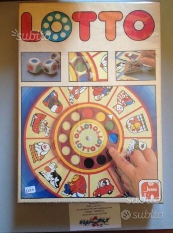 Lotto gioco da tavolo anni 80 vintage
