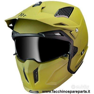 Casco Moto Mt Helmet STREETFIGHTER verde opaco