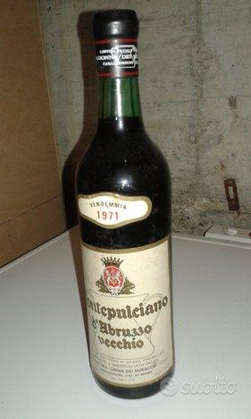 Vino rosso Montepulciano d'Abruzzo 1971