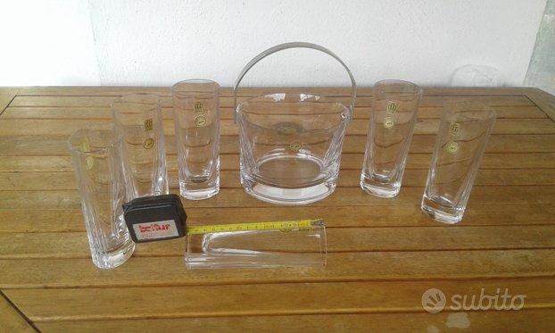Servizio bicchieri cristallo con portaghiaccio,Nuova CITTÀ