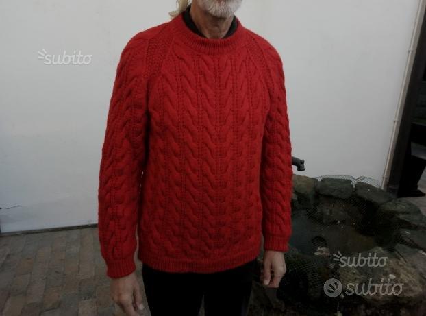 Maglione pura lana fatto a mano taglia 50