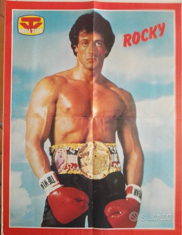 Sylvester Stallone - Rocky - Rambo - Poster 1985