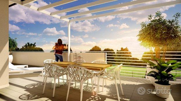 Martellago, nuovo 3 camere, terrazzone 50 mq