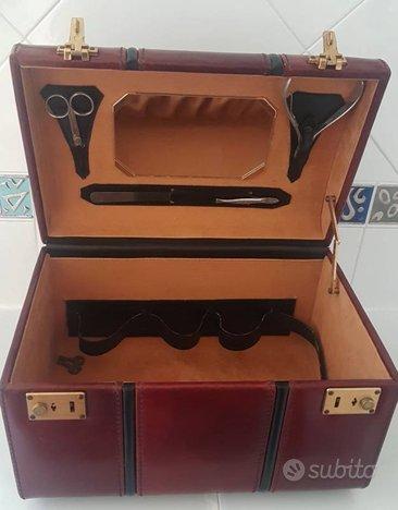 Beauty case in pelle anni '60
