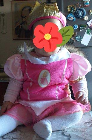 Vestito carnevale disney principessa aurora 6-12