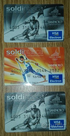OLIMPIADI TORINO 2006 : 3 Card Schede Soldintasca