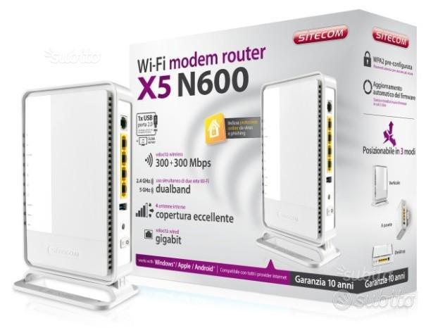 Ruter wi-fi modem sitecom x5 n600 300+300 mbps