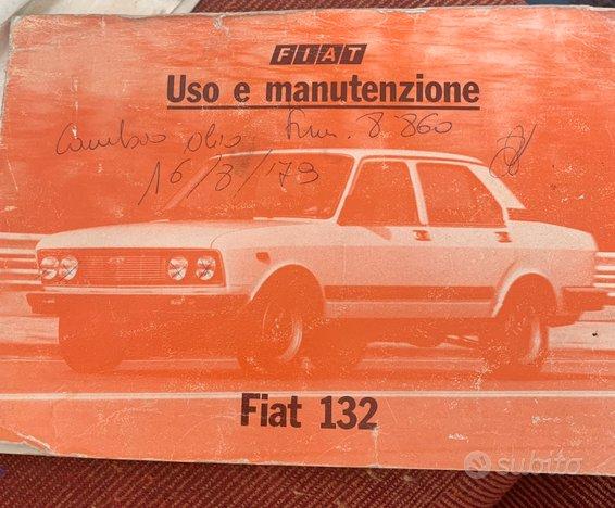 Libretto Uso e Manutenzione Fiat 132