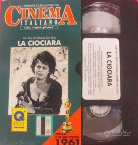 VHS film LA CIOCIARA Vittorio De Sica Sophia Loren