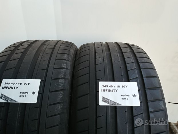 Gomme estive 245 40 r 18 infinity usate