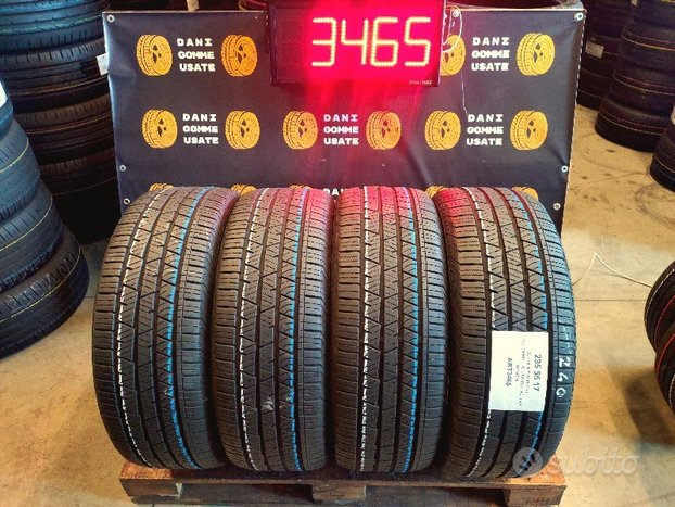 4 Gomme 235 55 17 CONTINENTAL 4 Stagioni 85/90%