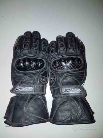 Guanti in pelle per moto (taglia s)