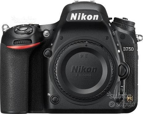 Nikon reflex d750 body nuovo