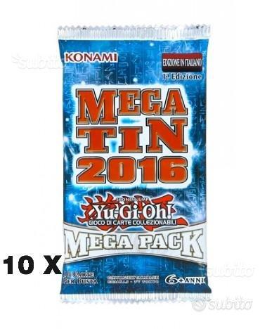 Yu-gi-oh 10x bustine mega pack 2016 italiano