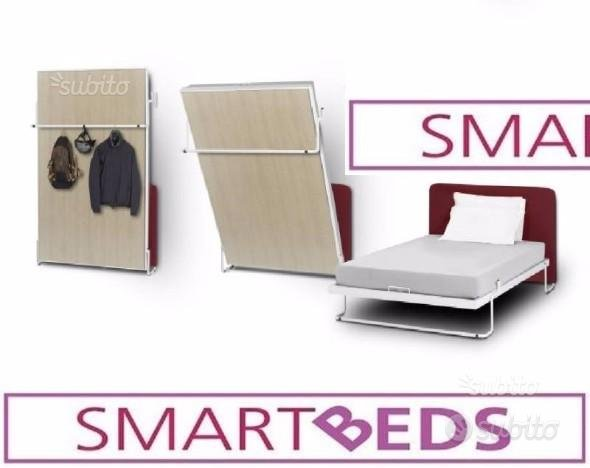 Letto a Scomparsa SMART BEDS 2 piazze tak rovere