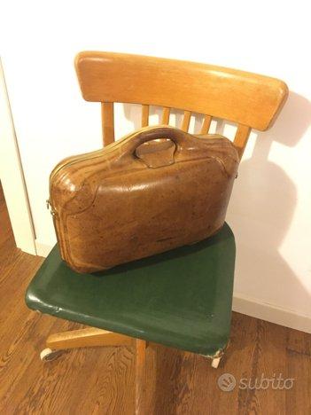Borsa vintage valigetta pelle cuoio valigia arredamento for Vendita arredamento vintage