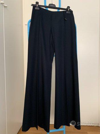 Pantaloni a palazzo Sisley neri (con trama) tg.40