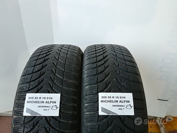 Gomme invernali 205 55 r 16 michelin usate