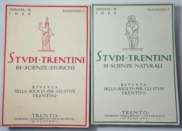1928 STUDI TRENTINI DI SCIENZE NATURALI e STORICHE