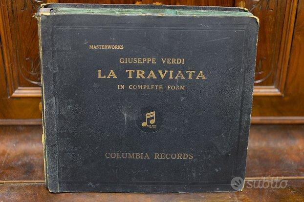 Antico cofanetto dischi La Traviata Giuseppe Verdi