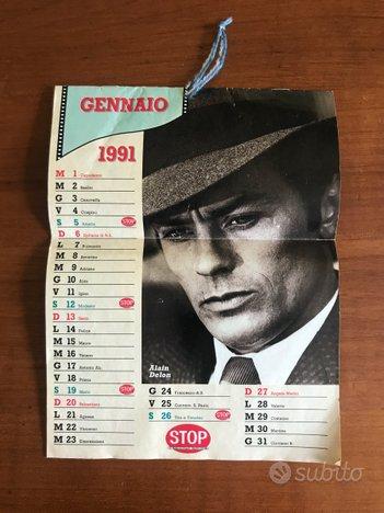 Calendario inserto 1991 vintage celebrita alain
