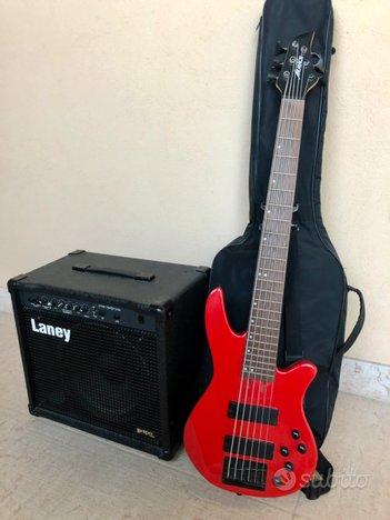 Basso Elettrico 6 corde + amplificatore Laney