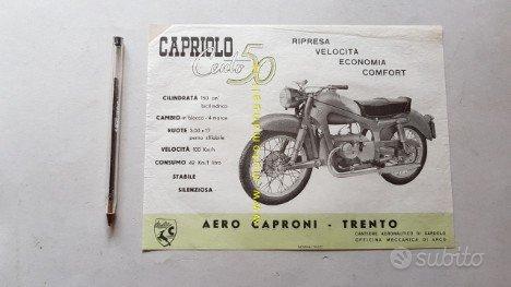 Aerocaproni Capriolo 150 1954 depliant moto epoca