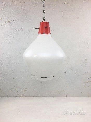 Lampada in vetro anni 60 stilnovo style,Stilnovo