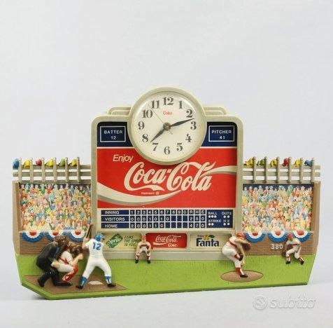 Orologio Coca Cola pubblicitario sagomato USA