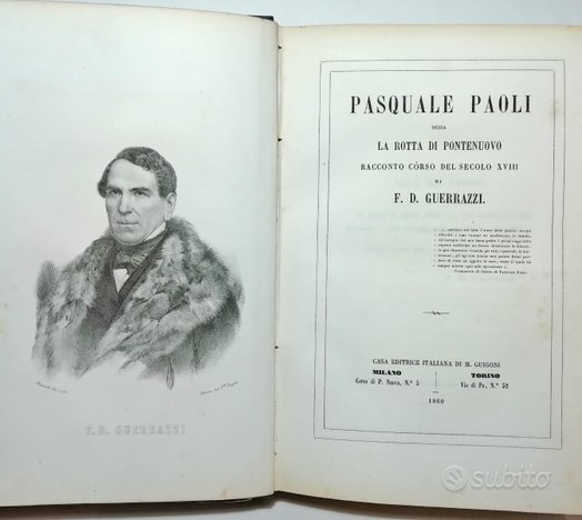 1860 - pasquale paoli ossia la rotta di pontenuovo