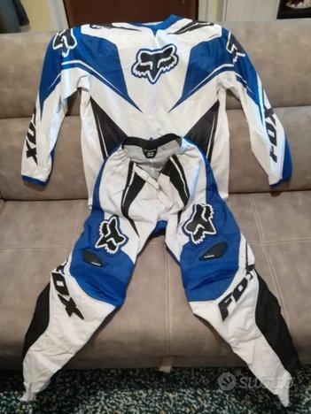 Completo Fox 180 RACE Blue/Bia (Taglia 32)