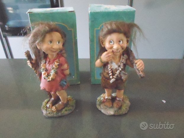 Action figure coppia trolls gnomi