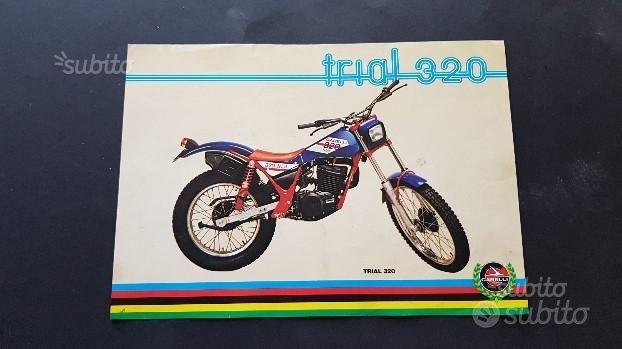 Garelli 320 trial 1981 depliant originale moto mot