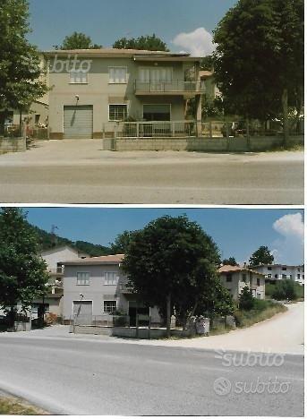 Casa 114mq+locali commerciali 114mq+terreno 645 mq