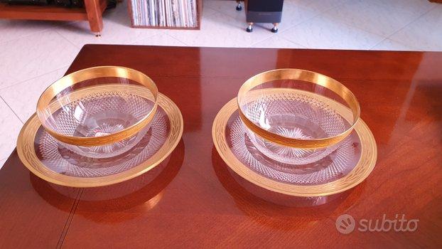 Coppe con piattino in cristallo Saint Louis XIX s