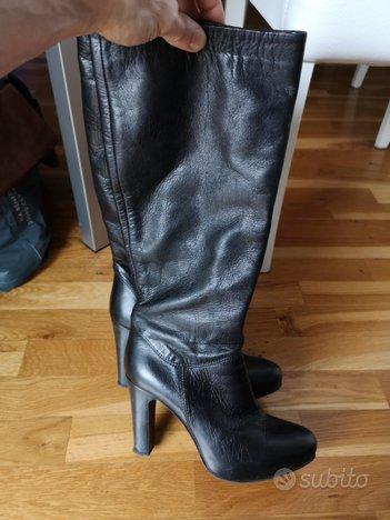 Stivali pelle nera morbidissimi Cinti TG 39