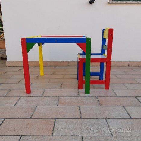 Tavolo e sedia legno