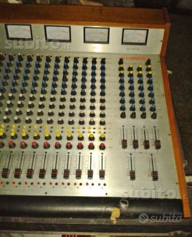 Mixer lombardi 20 canali anni 80
