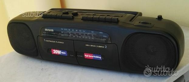 Stereo radio doppia cassette recorder AIWA