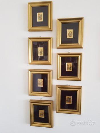 Quadretti su foglia oro
