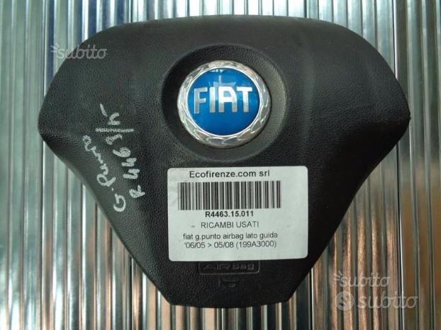 Fiat Grande Punto Airbag Guida Logo Blu - A003